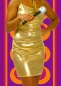 312✪ Glam Rock Party Abend Kleid Disco Queen Dancing gold Glitter Gr. 38