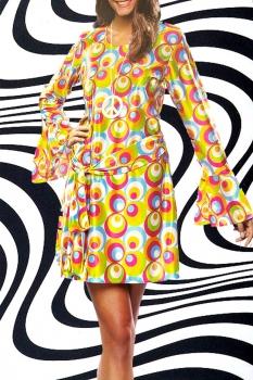 211 44 46 psychedelic twiggy hippie trompeten rmel abba kleid kost m 60er. Black Bedroom Furniture Sets. Home Design Ideas