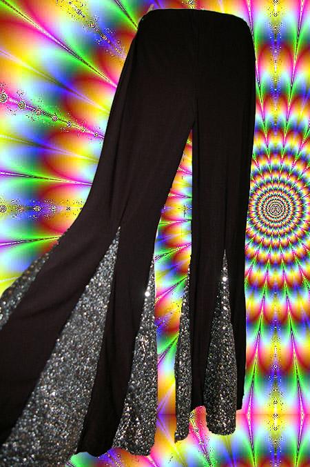 9 70er jahre hippie abba mega herren damen schlaghose boney m glam schwarz. Black Bedroom Furniture Sets. Home Design Ideas