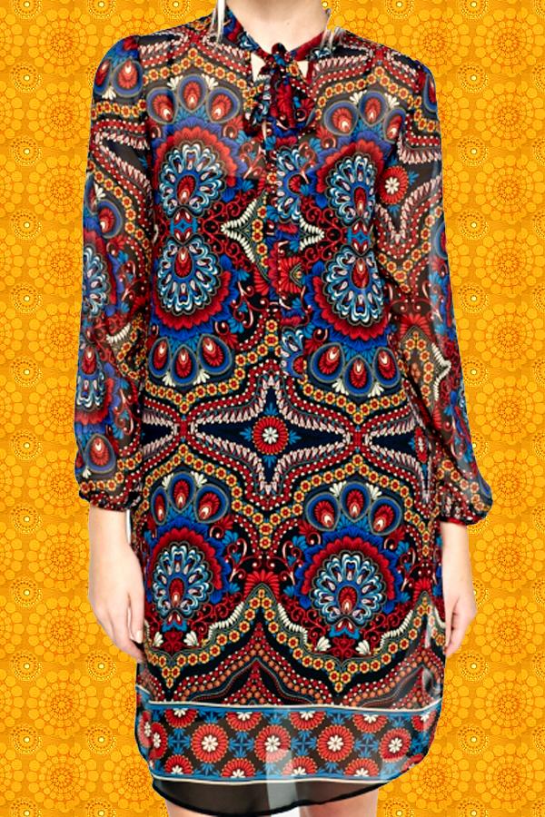 Ethno Muster kultklamotte - 286.40✪ indian hippie spirit gipsy tunika kleid
