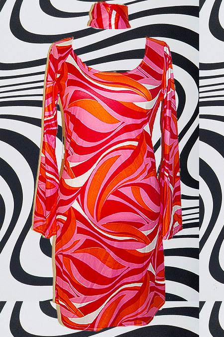kultklamotte.info - 204-44/46 Trompetenärmel AbbA Retro Kleid Kostüm ...
