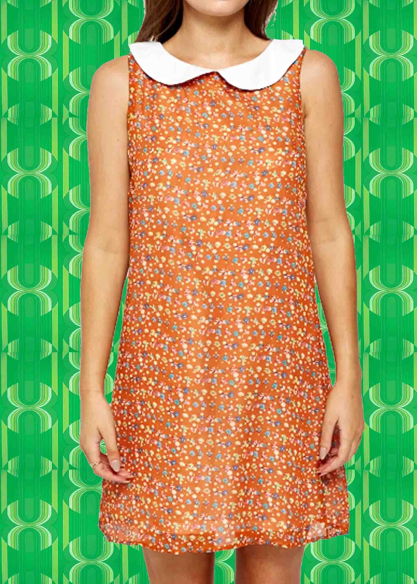 70er jahre twiggy kleider