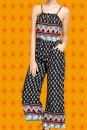 G476✪ Indian Boho Jumpsuit Overall HosenAnzug Paisley Muster Elefant Gr. 40 - 42
