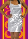 311✪ Glam Rock Party Abend Kleid Disco Queen Dancing silber Glitter Gr. 38