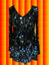 G274 Indian Hippie Spirit Gipsy Tunika Hängerchen Shirt Boho schwarz bunt Gr. S